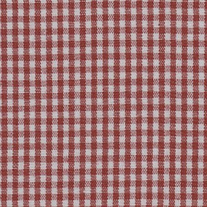 1/16 Gingham Brick Red Check Fabric