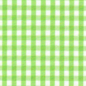 1/8 Gingham  Bright Lime Check Fabric