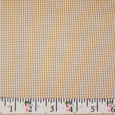 1/16 Gingham Bronze  Check Fabric