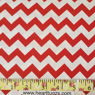 Red and White Chevron - Smaller Size - Choice Fabrics