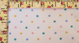 Pastel Polka Dot Fabric Pink, Blue, Green & Yellow - Pique Print 2048 Pastel Dots Fabric