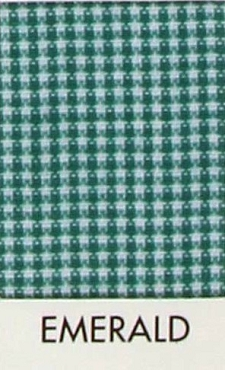 Emerald  Microcheck 1/32 Gingham  Poly Cotton - Spechler Vogel Textiles  - 1 yard