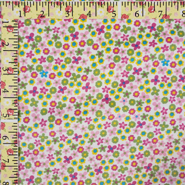 Multi Floral Corduroy Embroidered allover by Fabric Finders