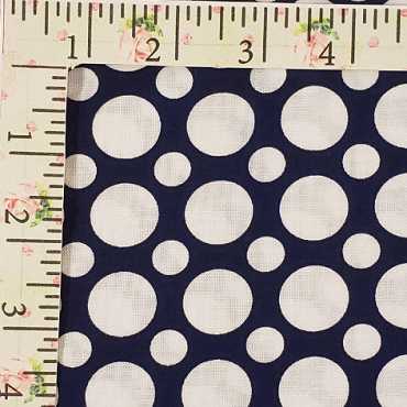 Navy Spot On Dots in two sizes by Robert Kaufman
