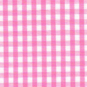 1/8 Gingham Hot Pink Check Fabric