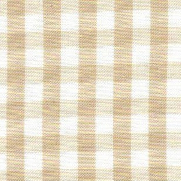 1/4 Gingham  Khaki  Check Fabric