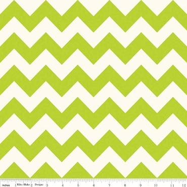 Lime Chevron Lime and White Medium