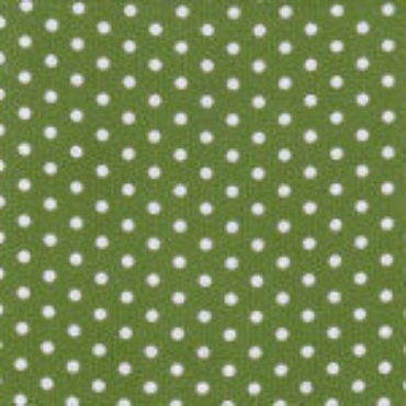 Lime  Corduroy with White Dots by Fabric Finders