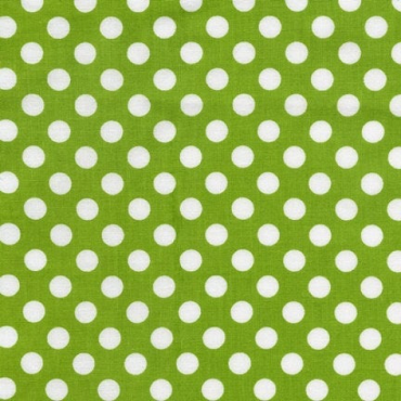 Bright Lime Spot On Dots by Robert Kaufman