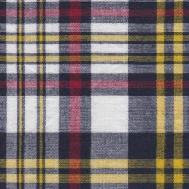Madras Plaid by Fabric Finders Inc Yellow Black and Red MP-014