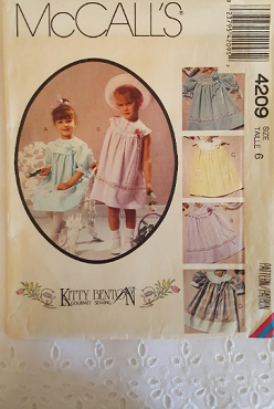 McCalls 4209 ~ Toddlers or Childrens Dress with Detachable Collar ~ Size: 6 ~ 1989 ~ Vintage Pattern ~ Uncut Sewing Pattern GRTODPAT