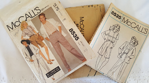 McCalls 8535 ~Willi Wear Flat Front Pants Shorts Loose Top Jacket ~ 1985 ~ Vintage Pattern ~ Uncut Sewing Pattern ~ GRTLPAT