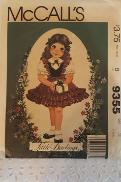 McCalls 9355 ~ Little Darlings Girls Dress ~ Size: 4 5 6 ~ 1984 ~ Vintage Pattern ~ Uncut Sewing Pattern ~ GRTODPAT
