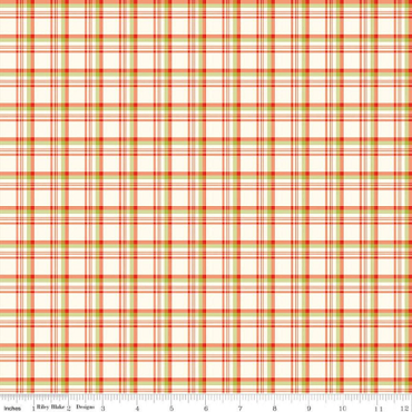 Merry Little Christmas Plaid Cream Fabric By Riley Blake