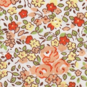 Orange and Yellow Floral Fabric – Print #2337