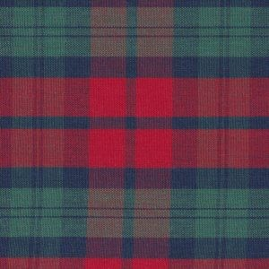Red Green Plaid P-51 by Fabric Finders Inc.