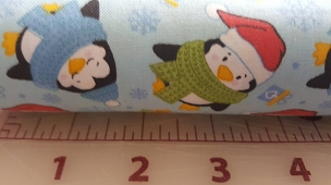 Penguin Christmas Cotton Print 60W Fabric Finders 2062 100% Cotton