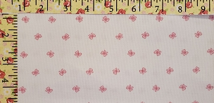 Bow Print Fabric - Pink Bows on White -  Pique Pique 2058