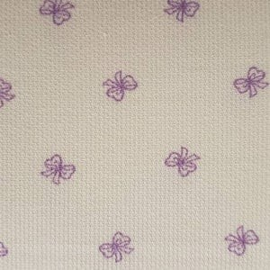 Bow Print Fabric - Lilac Bows on White - Pique Pique 2057
