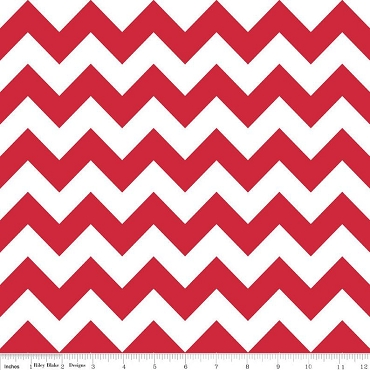 Red Chevron Red and White Medium