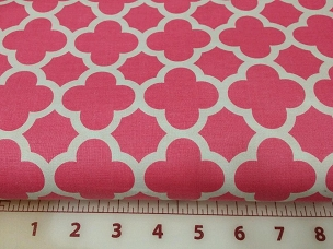Quatrefoil Riley Blake Moroccan Trellis or Lattice Pink