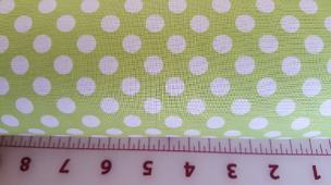 Chartreuse Lime Spot On Dots by Robert Kaufman