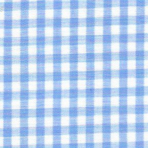 1/8 Gingham Sky Blue Check Fabric
