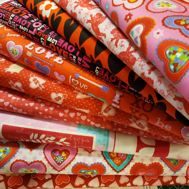 Fat Quarter Set of assorted Valenines Fabrics