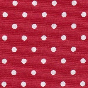 White Dots on Red Fabric Print 2164 Red White Dots Cotton Fabric Printed on one side 57W FFD2018HT 1/8