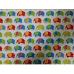 Mini Elephant Fabric Urban Zoologie Minis AAK-15309-204 PRIMARY Elephants all over by Robert Kaufman