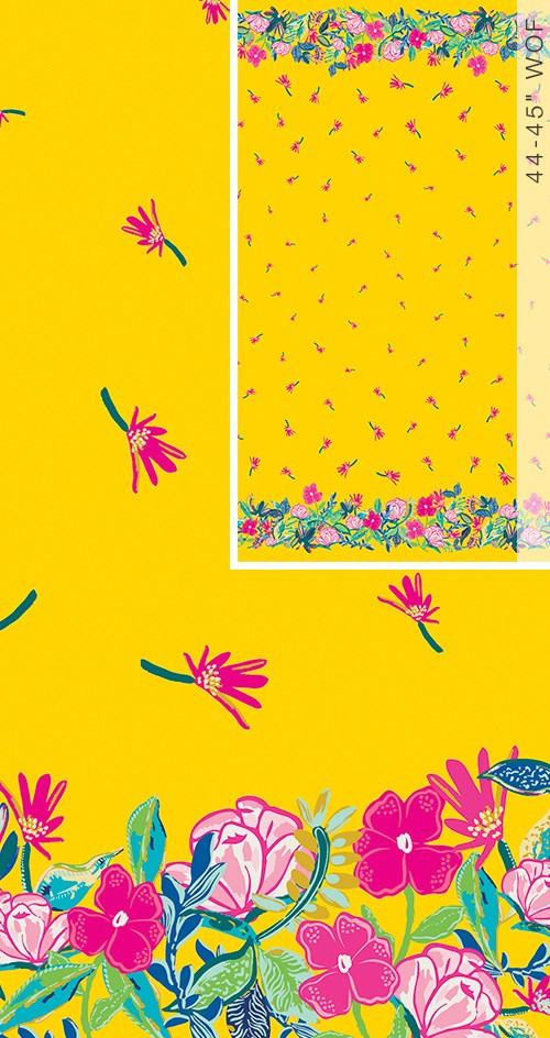 Hello Sunshine - Sunny days Ahead - Double Border Panel ~  ART GALLERY FABRICS ~  Designed by: Katie Skoog ~  HLS- 66961