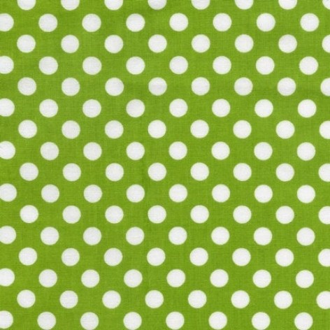 Lime Spot On Dots by Robert Kaufman