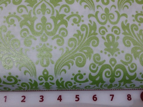Sparkle Damask - Lime and White