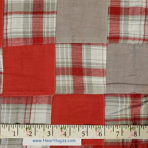 Red and Grey Patchwork