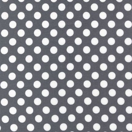 Gray Spot On Dots by Robert Kaufman