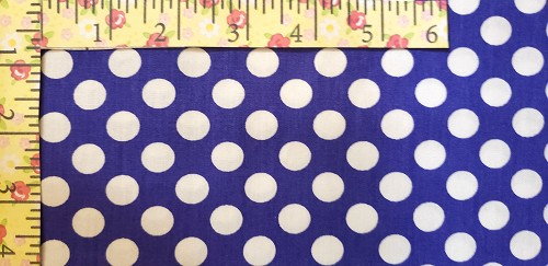 White Dots on Royal Blue by Fabric Finders Inc.