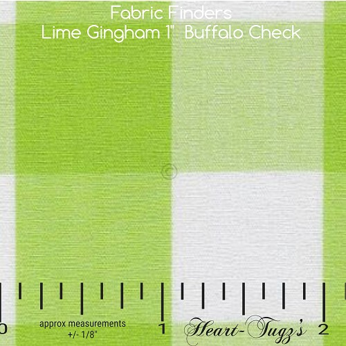 Bright Lime Gingham Fabric