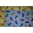 Car Print Fabric: Cars on Blue Chambray  Print #2220 by Fabric Finders Inc