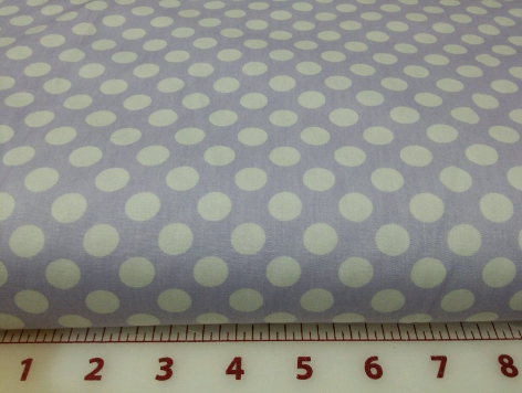 Wihte dots on llilac fabric